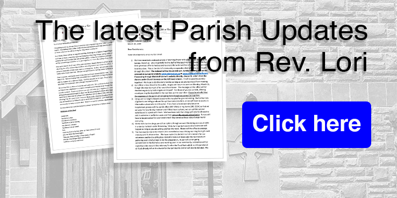 Updated letter from Rev Lori on what's happening within the parish during covid19